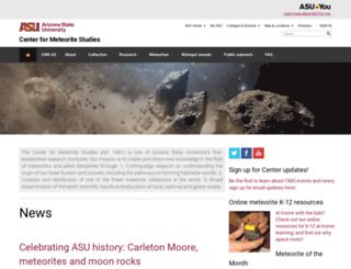 meteorites.asu.edu screenshot