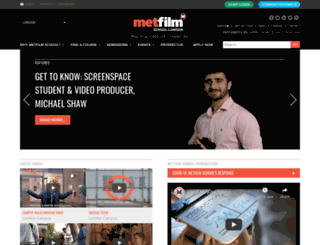 metfilmschool.co.uk screenshot