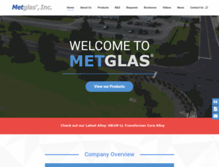 metglas.com screenshot