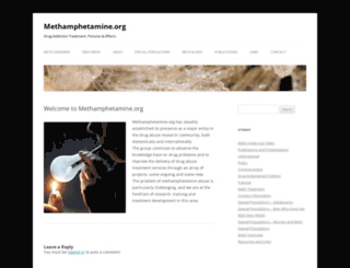 methamphetamine.org screenshot