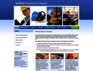 method-statement-template.com screenshot