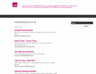 methoxetamine.co.uk screenshot