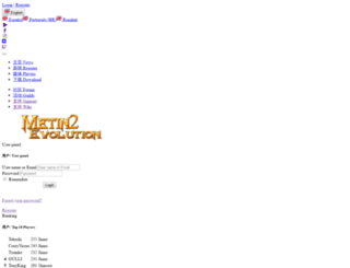 metin2evolution.com screenshot