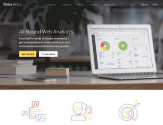 metric.yandex.com screenshot