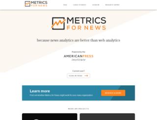 metricsfornews.com screenshot