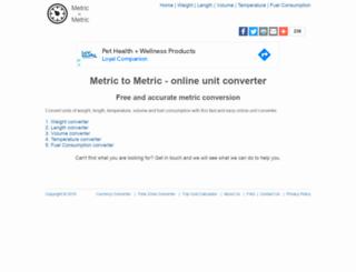metrictometric.com screenshot