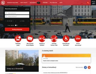 metro2.ztm.waw.pl screenshot