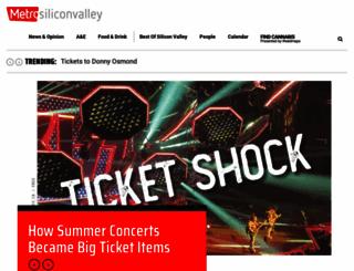metroactive.com screenshot