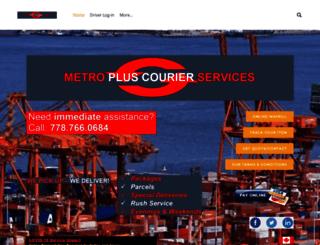 metrocourier.info screenshot