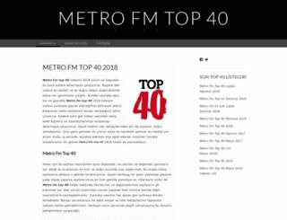 metrofmtop40liste.wordpress.com screenshot
