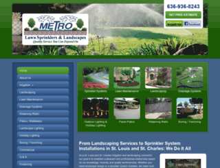 metrolawnsprinkler.com screenshot