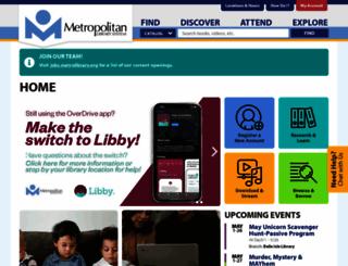 metrolib.com screenshot