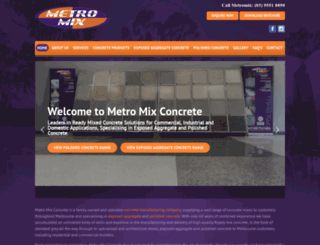 metromixconcrete.com.au screenshot