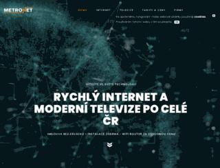 metronet.cz screenshot