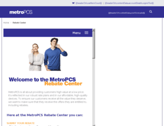 metropcsrebates.com screenshot