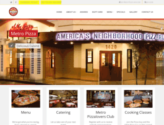 metropizza.com screenshot