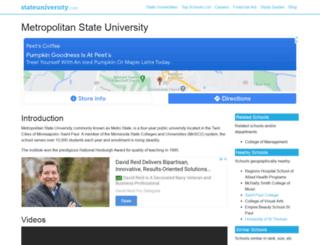 metropolitan.stateuniversity.com screenshot