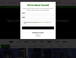 metropolitanappliance.com screenshot
