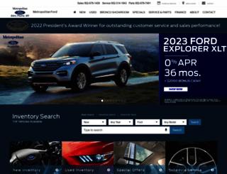 metropolitanfordonline.com screenshot