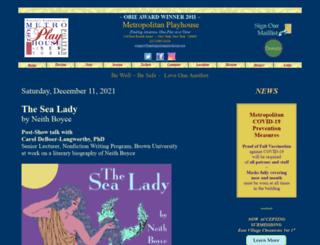 metropolitanplayhouse.org screenshot
