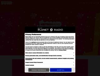 metroradio.co.uk screenshot