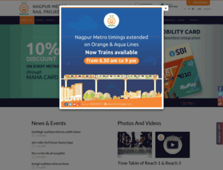 metrorailnagpur.com screenshot