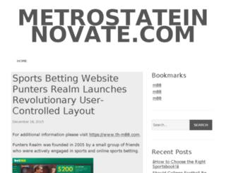 metrostateinnovate.com screenshot