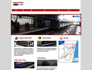 metrotrain.livechennai.com screenshot