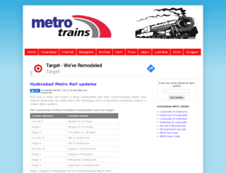 metrotrains.in screenshot