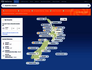 metservice.com screenshot