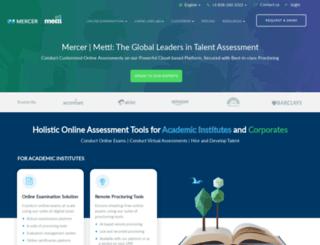 mettl.com screenshot