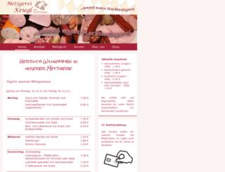 metzgerei-kriegl.de screenshot