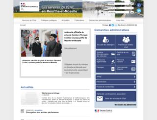 meurthe-et-moselle.pref.gouv.fr screenshot