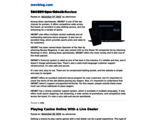 mevblog.com screenshot