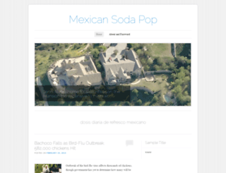 mexicansodapop.wordpress.com screenshot