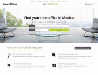 mexico.instantoffices.com screenshot