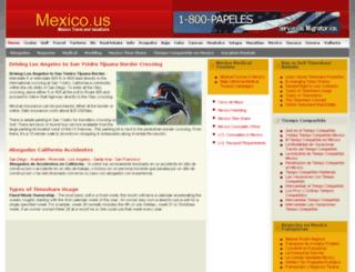 mexico.us screenshot