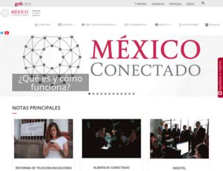 mexicoconectado.gob.mx screenshot