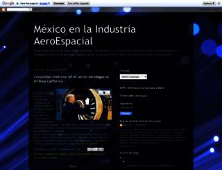 mexicoindustraaeroespacial.blogspot.mx screenshot