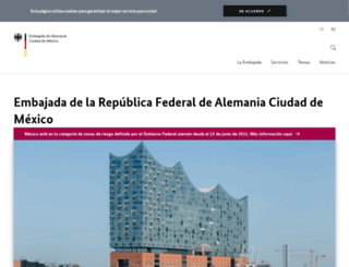 mexiko.diplo.de screenshot