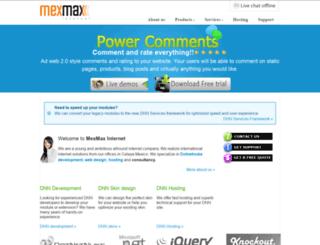 mexmax-internet.com screenshot