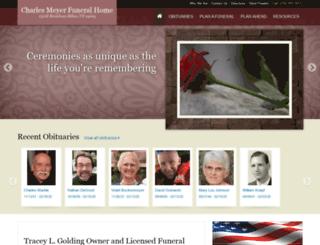 meyerfuneralhome.com screenshot