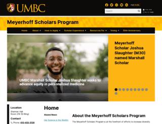 meyerhoff.umbc.edu screenshot