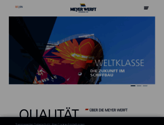 meyerwerft.de screenshot