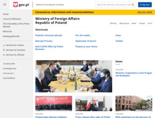 mfa.gov.pl screenshot