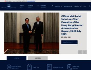 mfa.gov.sg screenshot