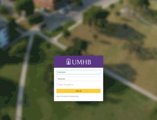 mfa.umhb.edu screenshot