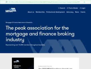 mfaa.com.au screenshot