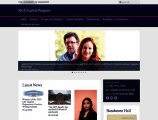 mfaenglish.olemiss.edu screenshot