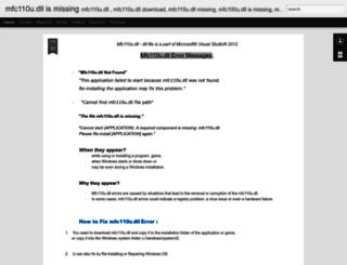 mfc110u-dll-download.blogspot.com screenshot